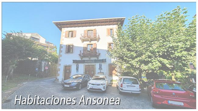 Habitaciones del Hostal Ansonea en Bera Navarra